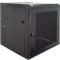Penn Elcom 12U Wall Rack Double Section 600mm/23.62 Inch Deep Perforated Door DWP-6612BK