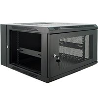 Penn Elcom 6U Wall Rack Double Section 600mm/23.62 Inch Deep Perforated Door DWP-6606BK