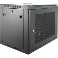 "Penn Elcom 9U Wall Mount Rack Enclosure 450mm/17.72"" Deep Perforated Door WMP-6409BK"