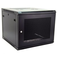 Penn Elcom 9U Wall Mount Rack Enclosure 600mm/23.62 Deep Perforated Door WMP-6609BK