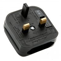 Powerconnections FCP UK Plug Blk Converter Non Removable for Europlug with 5A fuse FCP-BK-5A