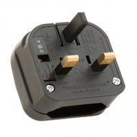 Powerconnections PCP UK Plug Blk Converter  3A for Transformer PCP-BK-R-3A