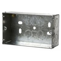 Scolmore Back Box Double Gang 47mm Deep Galvanised Steel WA098