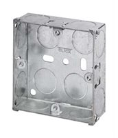 Scolmore Back Box Single Gang 25mm Shallow Galvanised Steel WA093