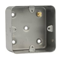 Scolmore Single Gang Back Box Surface Mount 40mm deep CL083
