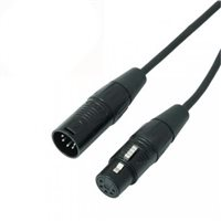 REAN DMX CABLE 5 PIN XLR BLACK 3M Re`An NRA-000-0805-030