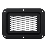 Recess Dish Perforated  178 x 127mm Black D2101K-04 by Penn Elcom