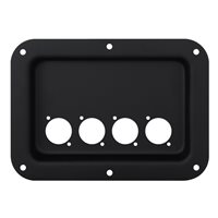 Penn Elcom Recess Dish Punched for 4 x D-Series Connectors Black D024K