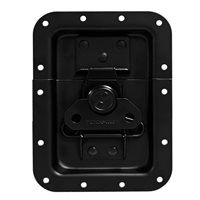 "Penn Elcom Large Recessed Butterfly Latch in Deep Plain Dish. From Split to Hole Centre: 10mm / 3/8"" L925/530K"
