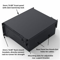 Penn Elcom 2U Touring Grade Heavy Duty Rack Drawer Black R2293/2UK