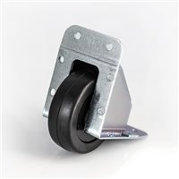 Penn Elcom Steel Recessed Castor with Black Wheel (Zinc) W2060Z