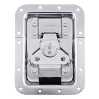 "Penn Elcom Large MOL3™ Recessed Butterfly Latch in Deep Plain Dish. Split to Hole Centre: 10mm / 3/8"" L944/530MOL3"