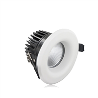 Integral LED Fire Rated Downlight 9W 3000K 55Deg 70mm cut-out Dim Integral LED