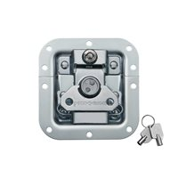 Penn Elcom Medium MOL™ Recessed Butterfly Latch in Deep Plain Dish with Keylock L905/927