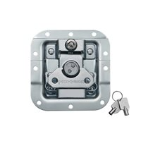 "Penn Elcom Medium MOL™ Recessed Butterfly Latch in Deep 27mm / 1 1/16"" Offset Dish with Key Lock L907/927"