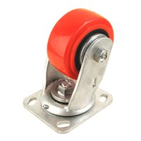 "Penn Elcom 4"" X 2"" Heavy Duty Caster 700 Lbs Swivel Red 8408HD"