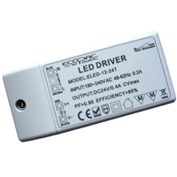Ecopac UK ELED-12-24T 9.6W Mains (Triac) Dimmable constant voltage LED driver 24V IP20 LEDMD1224