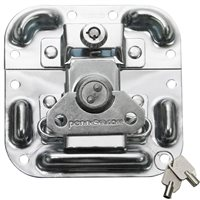Penn Elcom MOL™ Latch with Key Lock in Surface Mount Dish with Protective Ridges L405/927