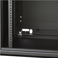 Penn Elcom WM Rack 600mm x 9U, Glass Door 10-32 Black R6609-1032