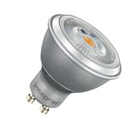 Integral LED Silver Par 16 50 36Deg Dimmable 6.8W / 2.7K GU10  COB 30-26-93