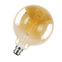 Integral Sunset Vintage Globe 125mm 40 300Deg Filament-style 5W 1800K BC Dimmable ILGLOBB22D012