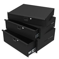 "3U Aluminium Rack Drawer Black 387mm / 14"" Deep R2294 by Penn Elcom"