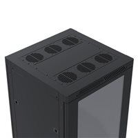 Penn Elcom 37U Rack Enclosure M6 Rail 600mm / 23.62in x 600mm / 23.62in R4066-V-37UK