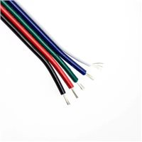 Penn Elcom 5 Core Flat 20AWG Bck/Red/Gr/Blue/Wh Stranded Copper CA5F20