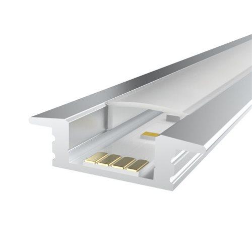 Penn Elcom 3m KIT Profilé Encastrable 12.2mm en Aluminium LEDAL08M3  - Cliquez pour agrandir limage