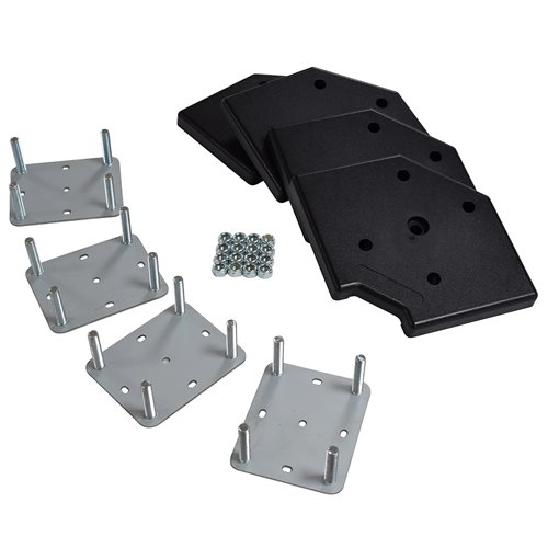 Penn Elcom Wheel Plate Kit, 4 Plates, 4 Corners & 16 Nylocks W9970-KIT  - Click to view a larger image