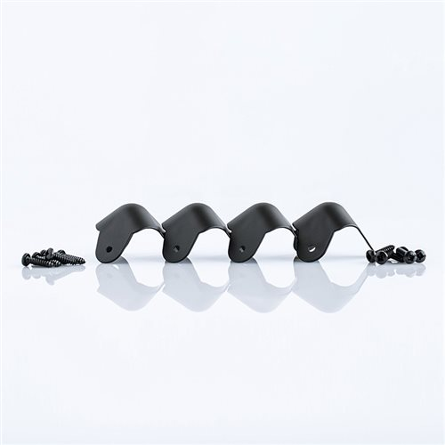Penn Elcom Pack of 4 x Black Steel Ball Corners C1823K-PE4  - Click to view a larger image
