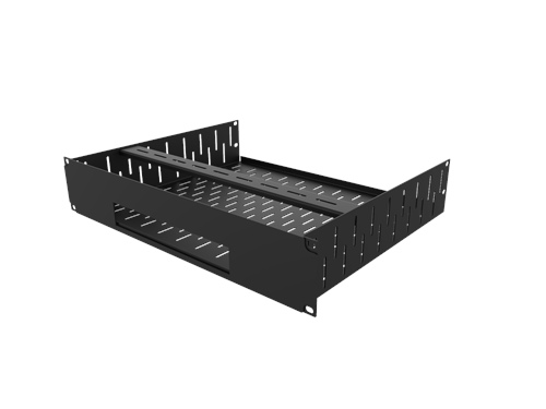 Penn Elcom Sky Q Mini Rack Shelf and Faceplate R1498/2UK-SKYQMINI  - Click to view a larger image