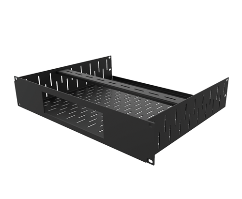 Penn Elcom 2U Rack Shelf & Faceplate Cut Out For 1 x Sonos Amp Unit R1498/2UK-SONAMP1  - Click to view a larger image