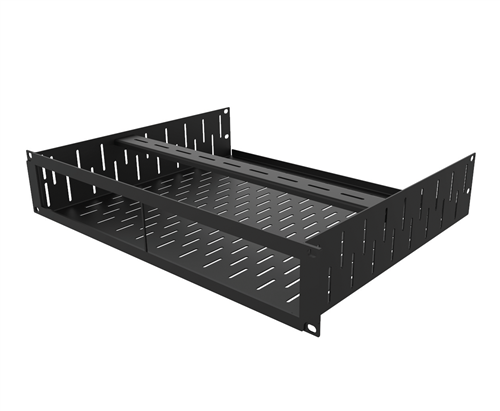 Penn Elcom 2U Rack Shelf & Faceplate Cut Out For 2 x Sonos Amp Units R1498/2UK-SONAMP2  - Click to view a larger image