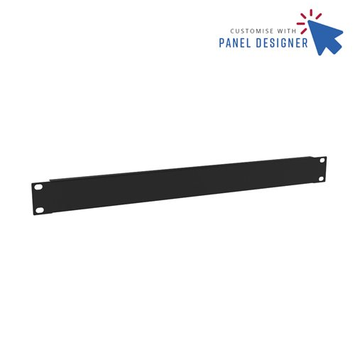 Penn Elcom 1U Custom Panel Designer Blank CRP-R1268/1UK  - Click to view a larger image