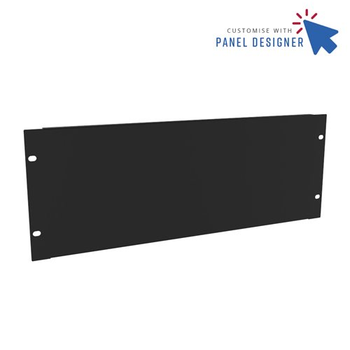 Penn Elcom 4U Custom Panel Designer Blank CRP-R1268/4UK  - Click to view a larger image