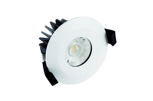 Integral Led Fire Rated Downlight 6w 3k 38deg Dim 5055788223382  - Click to view a larger image