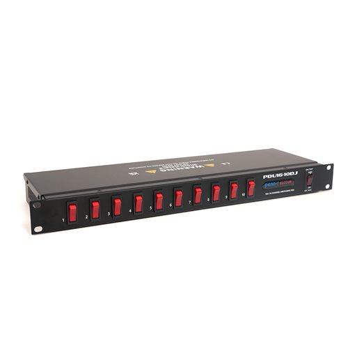 Penn Elcom 1U 16A 10-Channel Power Distribution Unit (UK) PDU16-10DJ-UK  - Cliquez pour agrandir limage