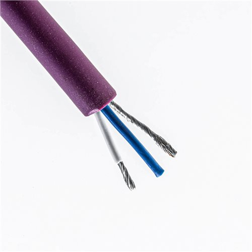 Penn Elcom Studio Series Microphone Cable (Purple, 6.5mm, 2-Core) CAMA10P  - Click to view a larger image