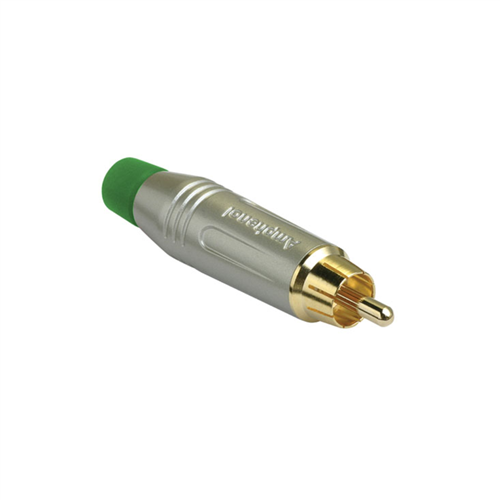 Amphenol RCA Cable Plug Satin Finish Green ACPR-SGR  - Click to view a larger image