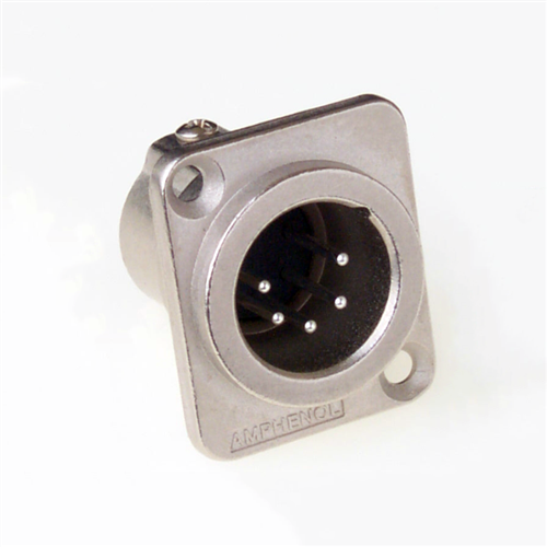 Amphenol XLR 5 Pin Male Chassis Machined Contacts AC5MDZ  - Click to view a larger image