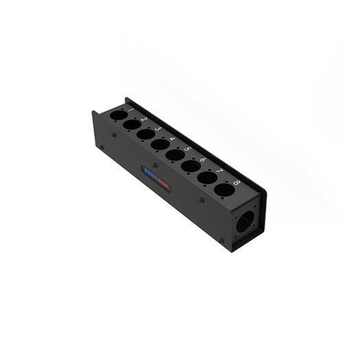 Penn Elcom 8 Hole Stage Box Punched for D-Series Connectors R2340-08