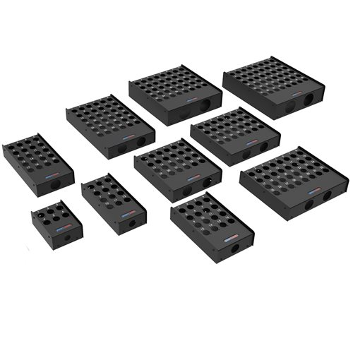 Penn Elcom 28 Hole Stage Box Punched for D-Series Connectors R2345-28  - Click to view a larger image