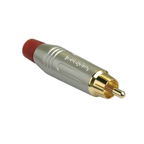 Amphenol RCA Cable Plug Satin Finish Red ACPR-SRD  - Click to view a larger image