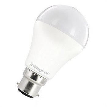 Integral LED Classic A 60 140Deg Non Dim 10W 27K BC Opal 26-66-90