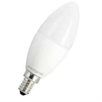 Integral Integral LED Classic Candle 5.6W (40W) 2700K 470Lm E14 Mattierte Dimmbare Lampe - 97-68-90