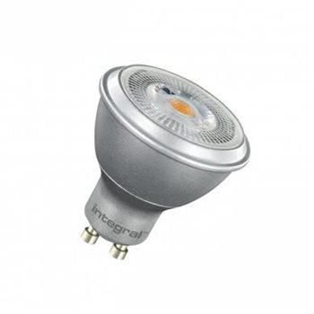 Integral LED Par 16 50 36Deg Silver Non Dim 6.8W/27K GU10 COB 91-15-65