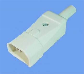 Comus IEC In-Line Shrouded Plug 10 Amp white Easy Connection ARTNR-749/W