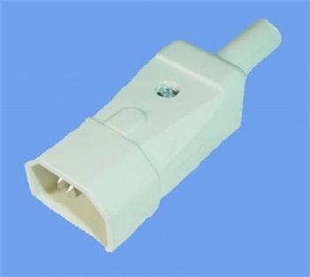 Penn Elcom IEC In-Line Shrouded Plug 10 Amp white Easy Connection ARTNR-749/W