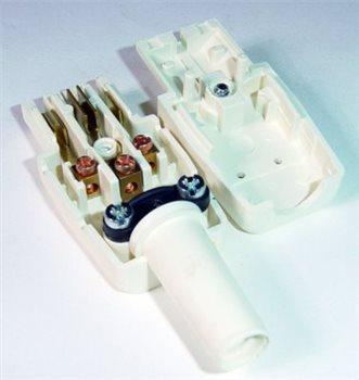 Comus IEC In-Line Shrouded Skt 10 Amp white Easy Connection ARTNR-794/W